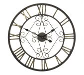 "Marlbury Open Faced Aged Metal Frame Garden Clock - 65cm (25.6"")"