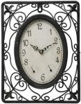 "Malmesbury Decorative Weather Station Metal Garden Clock - 23.5cm (9.3"")"