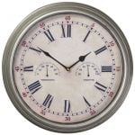 "Avebury Weather Station Outdoor Garden Clock - 35cm (13.7"")"