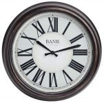 Bank Garden Clock - 36cm Diameter