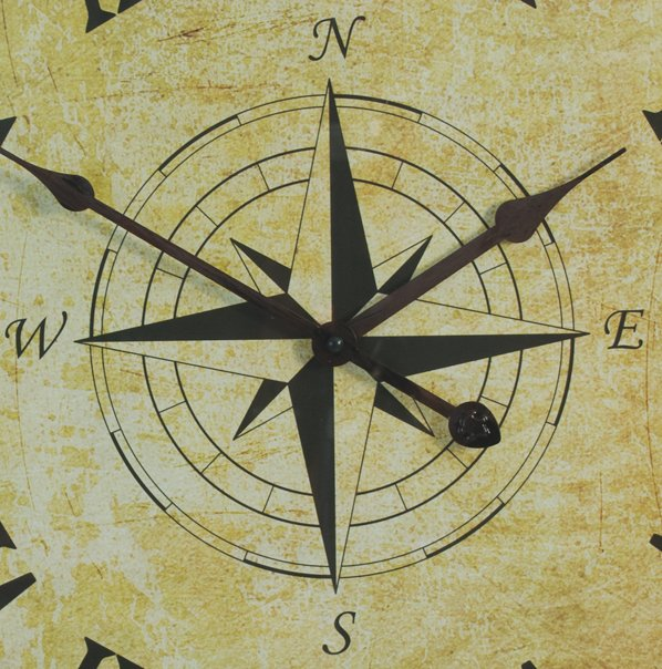 50cm Nautical Rope Metal Compass Garden Clock - by About Time™