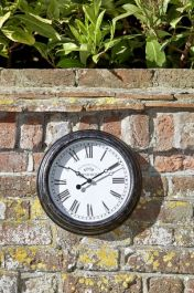 12in Biarritz Clock in Black by Smart Garden