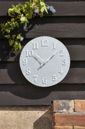 12in Westminster Clock in Duck Egg by Smart Garden