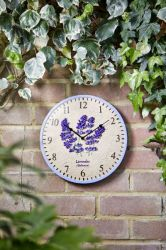 Smart Garden - Clock Lavender Wall Clock 12""