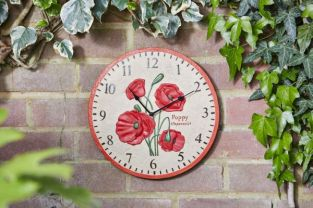 Smart Garden - Clock Poppy Wall Clock 12""