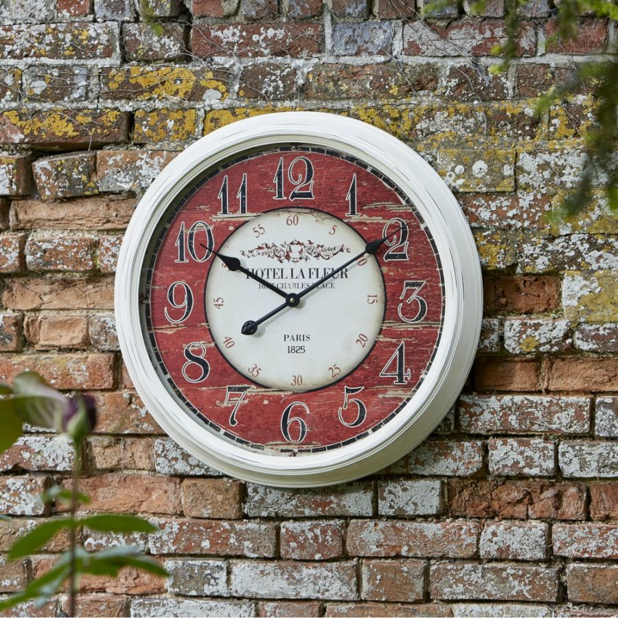 23.5in Grenoble Garden Wall Clock by Smart Garden