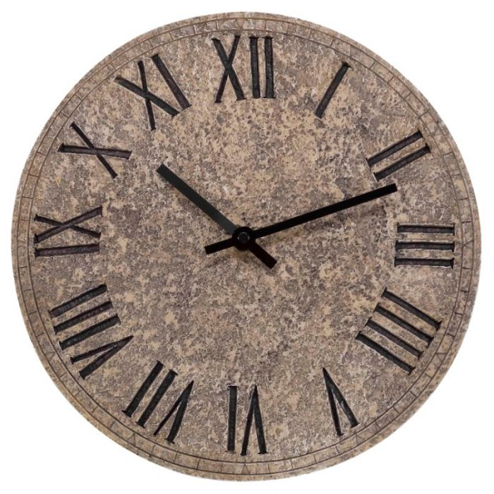 12in Rock Garden Wall Clock by Smart Garden