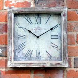 "Large Wooden Kensington Square Garden Clock - 43cm (17"")"