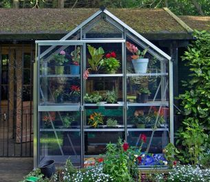 Evika™ 6x2 G1 Greenhouse in Aluminium Finish