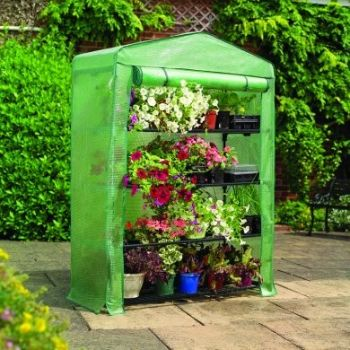 3ft 11in x 1ft 7in Extra Wide 4 Tier Greenhouse