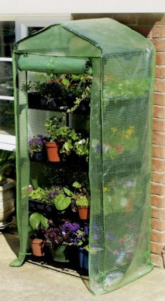 2ft 3in x 1ft 7in 4 Tier Growhouse with Reinforced Cover