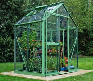 Evika™ 6x4 G1 Greenhouse in Pale Green