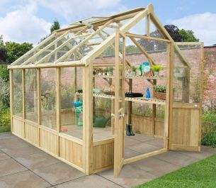 10x8 Vale Victorian Greenhouse by Forest Garden®