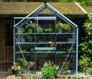 Evika™ 6x2 G1 Greenhouse in Squirrel Grey