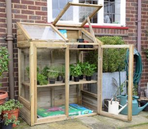 Mini Wooden Greenhouse by Forest Garden®