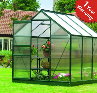Gardman 6ft x 6ft Traditional Aluminium Frame Greenhouse