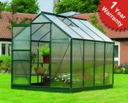 Gardman 6ft x 8ft Traditional Aluminium Frame Greenhouse