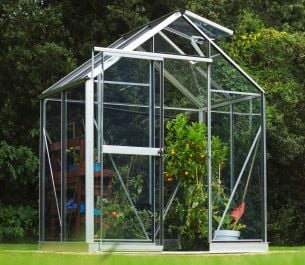 Evika™ 6x4 G1 Greenhouse in Aluminium Finish