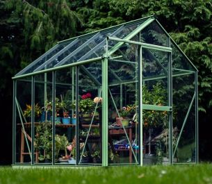 Evika™ 6x8 G1 Greenhouse in Pale Green