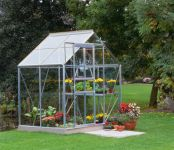 Halls Popular Aluminium Frame Greenhouse 6ft x 4ft Silver