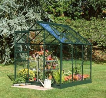 Halls Popular Aluminium Frame Greenhouse 6ft x 6ft Green