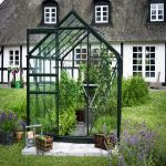Halls Popular Aluminium Frame Greenhouse 6ft x 8ft Green
