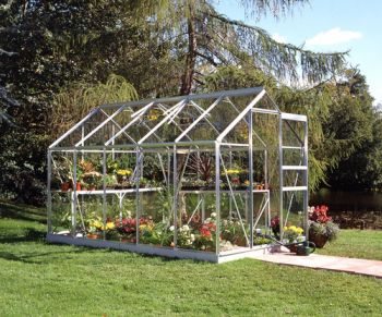 Halls Popular Aluminium Frame Greenhouse 6ft x 10ft Silver