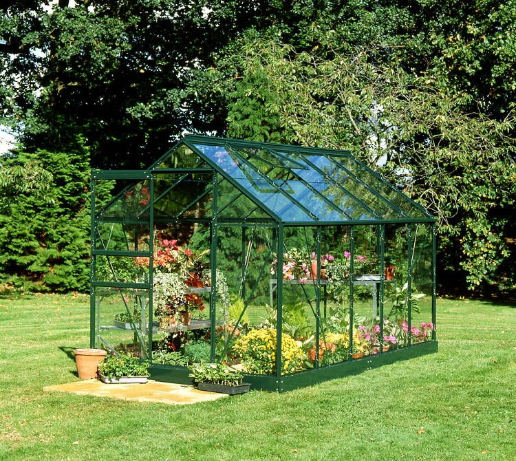 Halls Popular Aluminium Frame Greenhouse 6ft x 10ft Green