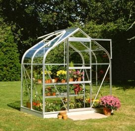Halls Supreme Aluminium Frame Greenhouse 6ft x 4ft Silver