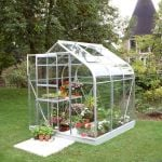 Halls Supreme Aluminium Frame Greenhouse 6ft x 6ft Silver