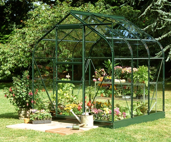 Halls Supreme Aluminium Frame Greenhouse 6ft x 6ft Green