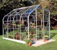 Halls Supreme Aluminium Frame Greenhouse 8ft x 6ft Silver