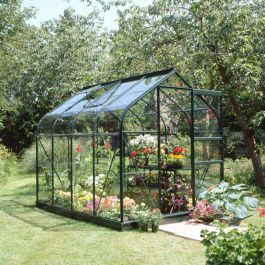 Halls Supreme Aluminium Frame Greenhouse 6ft x 8ft Green