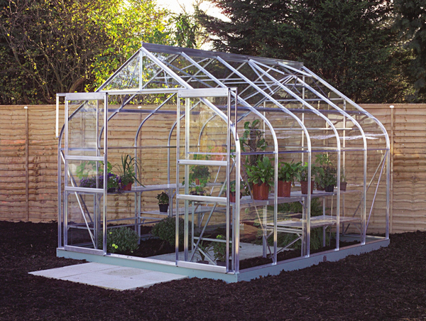 Halls Supreme Aluminium Frame Greenhouse 8ft x 10ft Silver