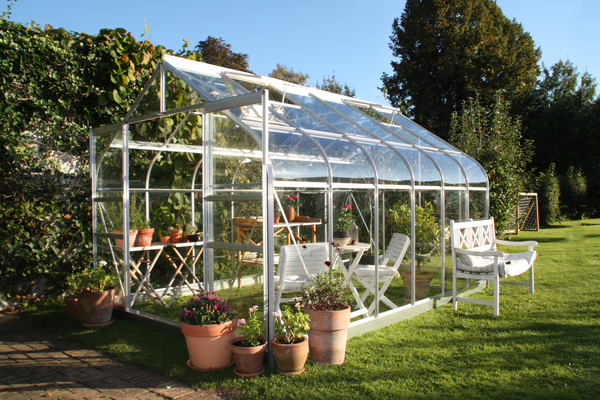 Halls Supreme Aluminium Frame Greenhouse 8ft x 12ft Silver
