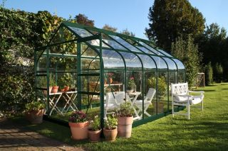 Halls Supreme Aluminium Frame Greenhouse 8ft x 12ft Green