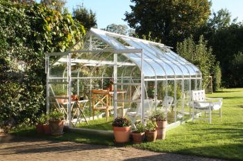 Halls Supreme Aluminium Frame Greenhouse 8ft x 14ft Silver