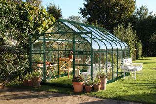 Halls Supreme Aluminium Frame Greenhouse 8ft x 14ft Green