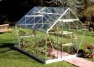 Halls Universal Aluminium Frame Greenhouse 8ft x 10ft Silver