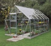 Halls Universal Aluminium Frame Greenhouse 8ft x 12ft Silver