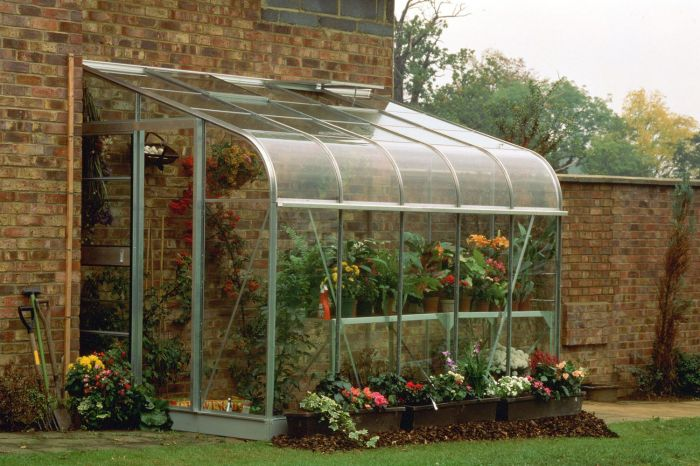 Halls Silverline Lean-To 12ft x 6ft Aluminium Frame Greenhouse - Silver With Toughened Glass