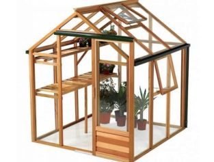 Growhouse Cedar 6ft x 6ft Wooden Greenhouse