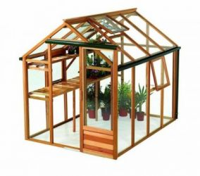 Growhouse Cedar 6ft x 8ft Wooden Greenhouse