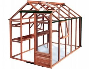 Growhouse Cedar 6ft x 10ft Wooden Greenhouse