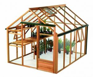 Growhouse Cedar 8ft x 10ft Wooden Greenhouse