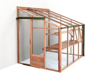 Growhouse Cedar 6' x 8' Wooden Lean-to