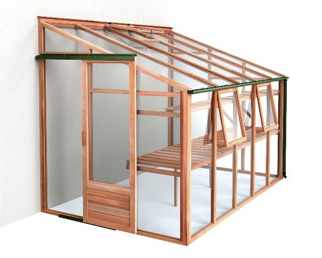 Growhouse Cedar 6' x 10' Wooden Lean-to