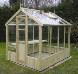 Swallow Kingfisher 6ft 8in x 6ft 4in Wooden Greenhouse