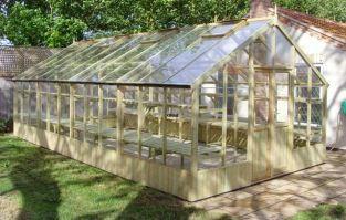 Swallow Falcon 13ft1 x 31ft6 Wooden Greenhouse