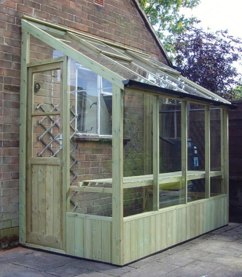 Swallow Finch 4ft 6in x 6ft 4in Lean-To Wooden Greenhouse